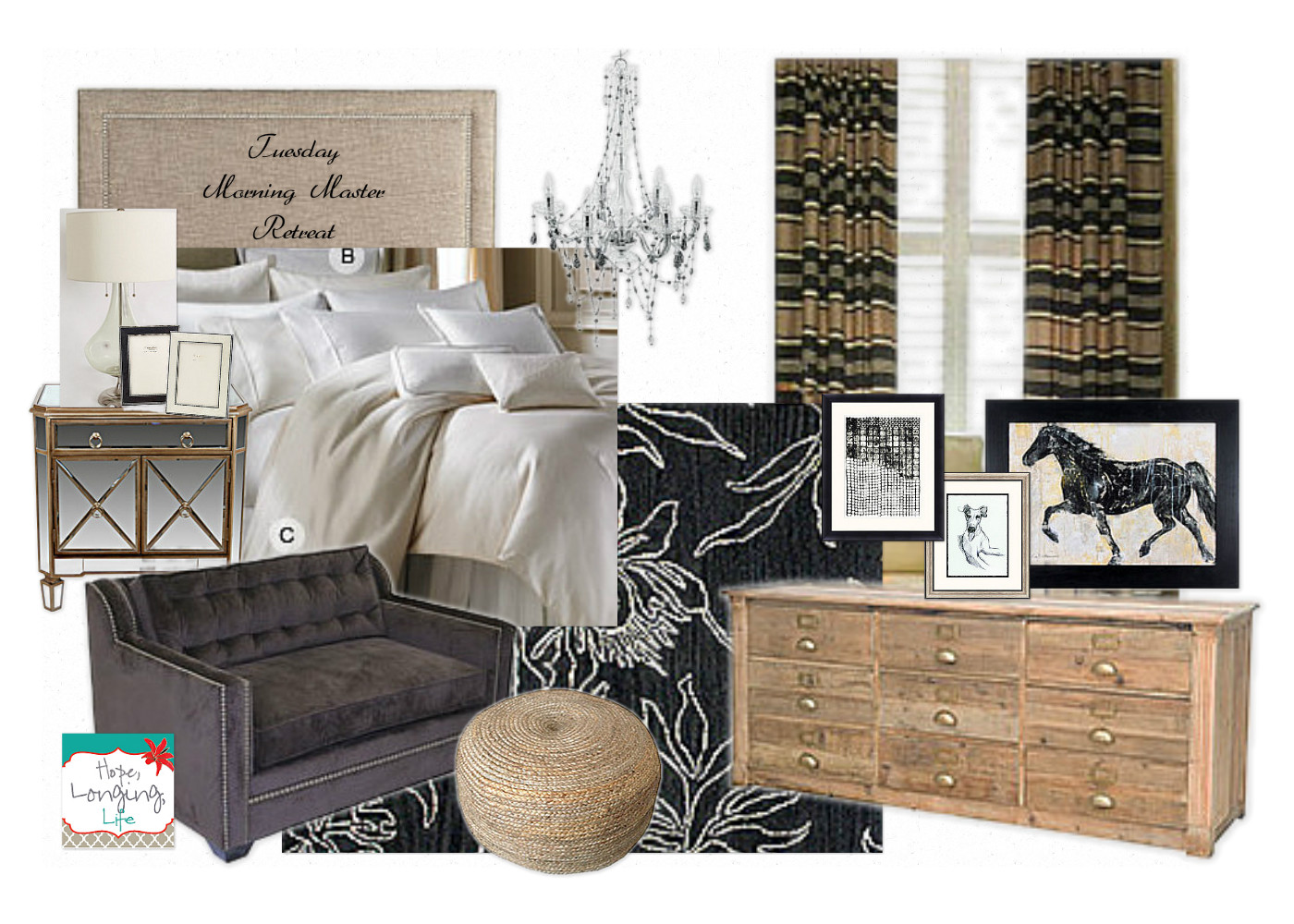 Hope, Longing, Life: Elegant Master Bedroom Design Board - Tuesday