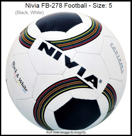 Nivia FB-278 Football Size-5 Worth Rs.690 For Rs.530 Only + Free Shipping.