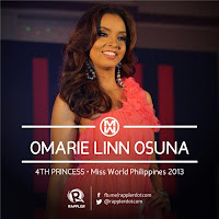 Fourth Princess (4th Runner Up): #18 Omarie Linn Osuna