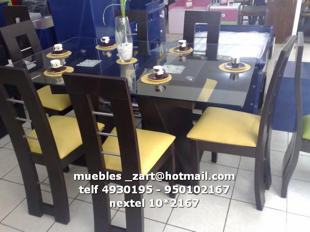 Abril 2012 comedores modernos for Comedores de 6 sillas modernos