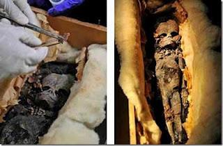 ENCUENTRAN MOMIA EXTRATERRESTRE EN PIRAMIDE DE EGIPTO