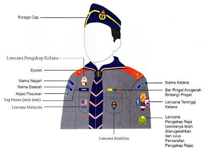 pasukan kelana a daerah kulim uniform pengakap kelana