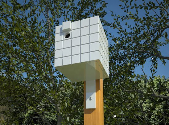 Neoshed birdhouses and bird feeders for modern for Different types of birdhouses