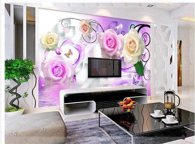 for living room beautiful colorful wall stickers flower wall stickers