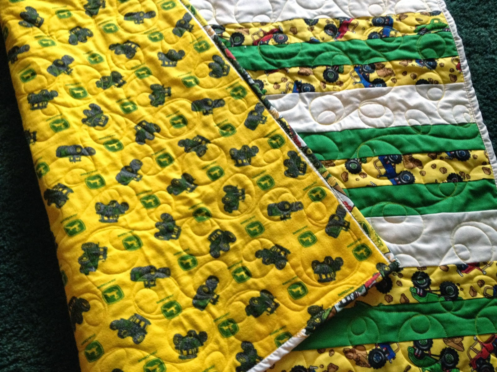Quilts 'N Things Done By Betty Boopw/Deb...: A John Deere/Truck ... : john deere quilts - Adamdwight.com