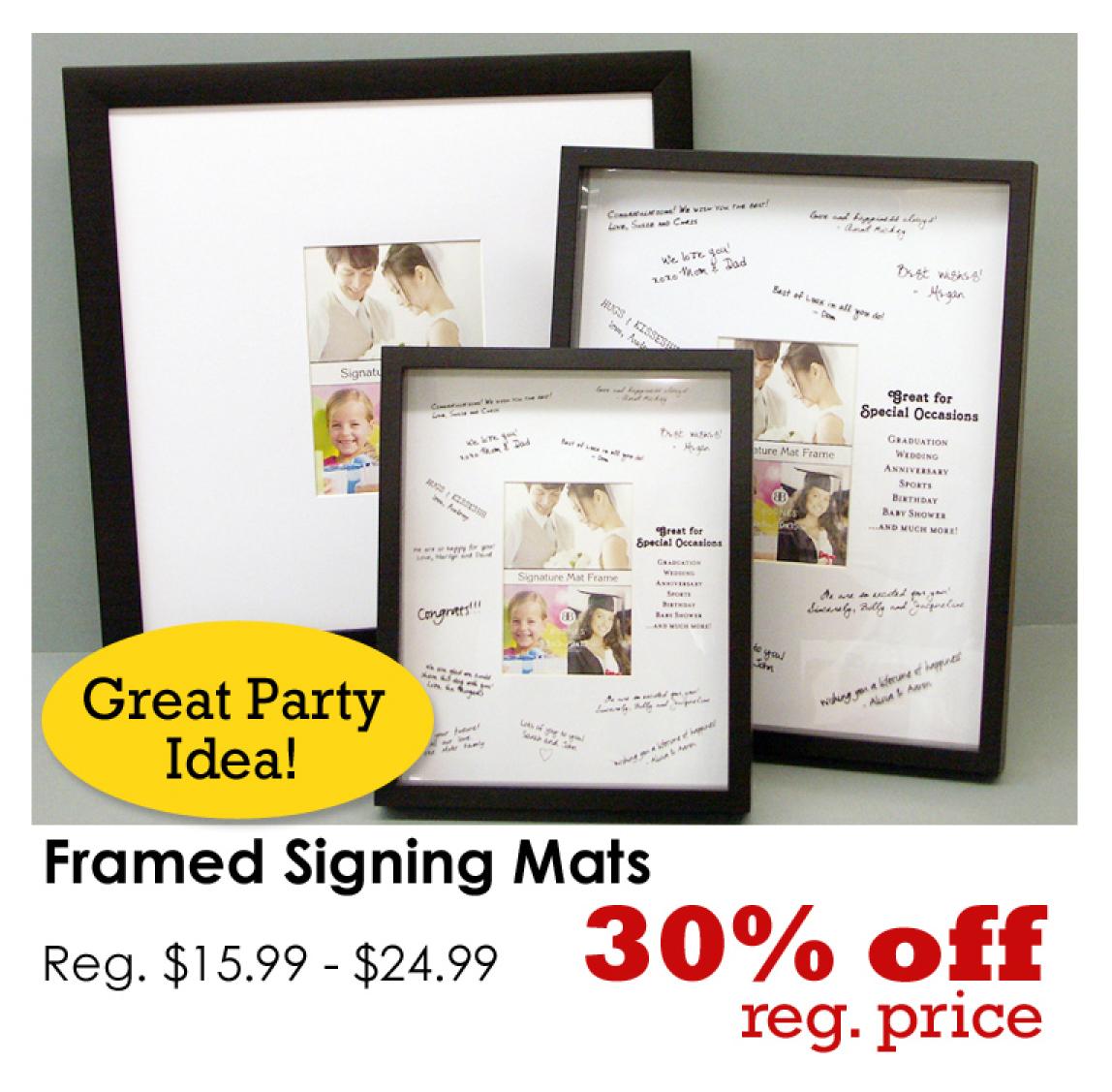Enchanting Signature Picture Frames Motif - Picture Frame Design ...