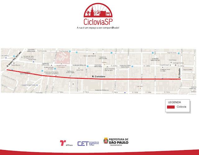 Ciclovia Rua Coriolano