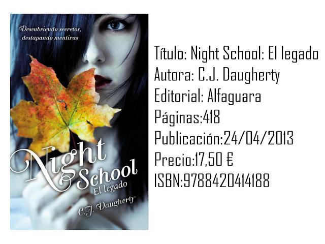 Reseña: Night School: El legado - C.J Daugherty