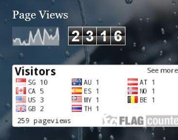 widget statistik jumlah pengunjung blog