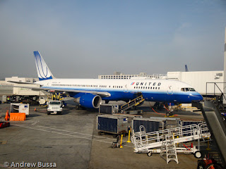 United Airlines 757 at SFO