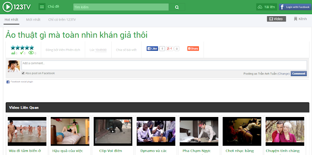 Template Blogspot Chia Sẻ Video Giống 123TV.vn, Theme Share Chia Se Clip Cho Blogger