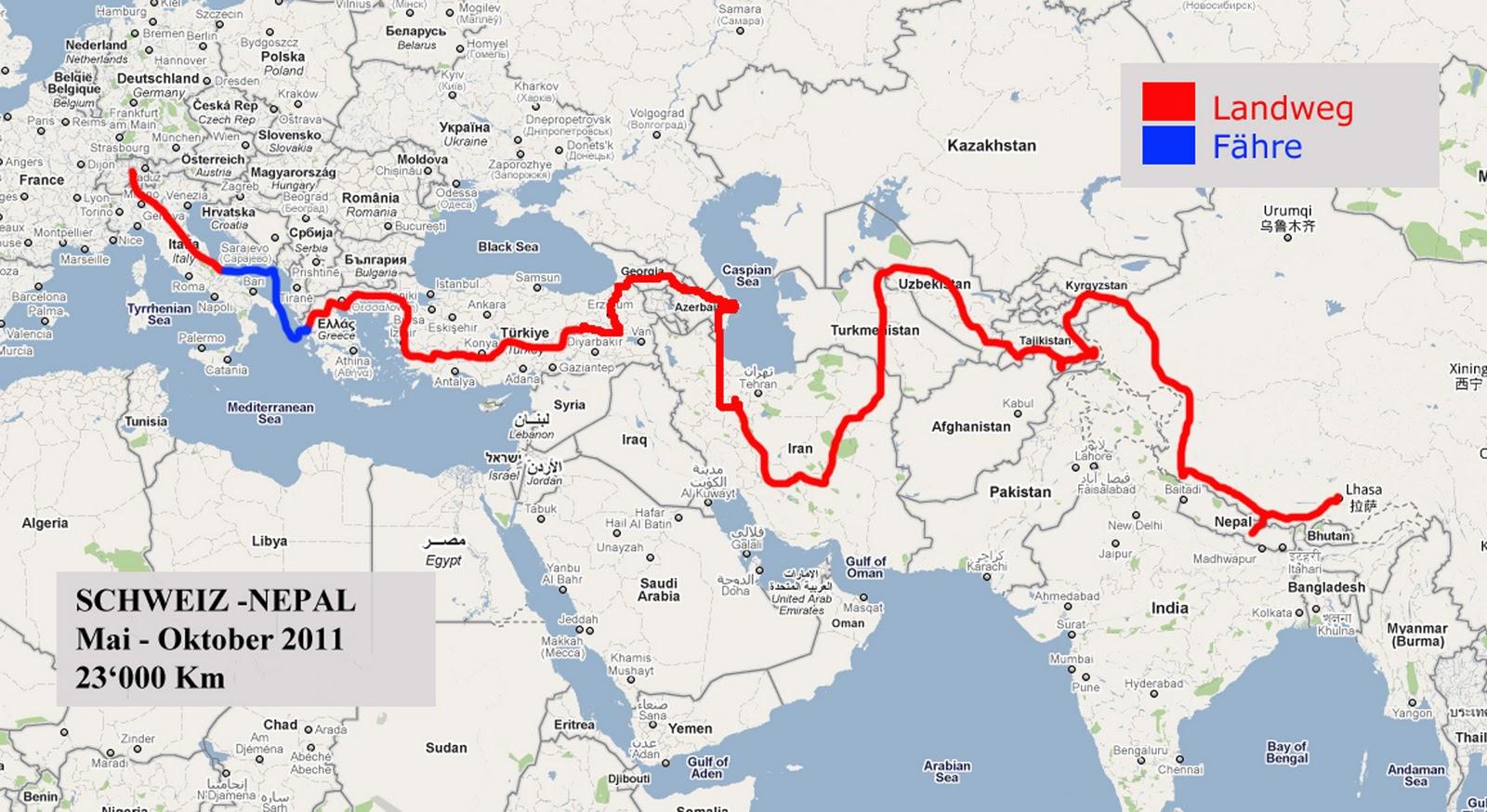 Seidenstrasse: Route