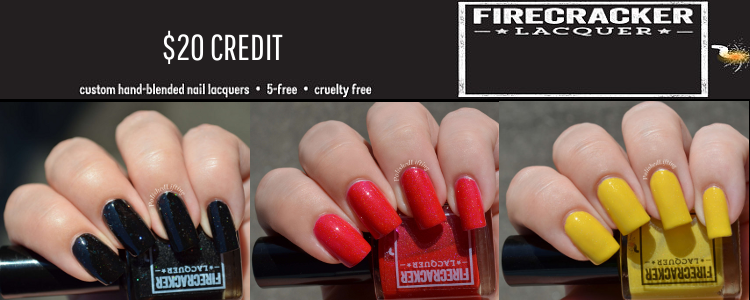 $20 Firecracker Lacquer credit on Style of Colours
