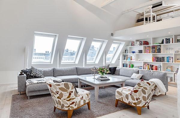 decoracao de interiores sotaos:Attic Living Room Design Ideas