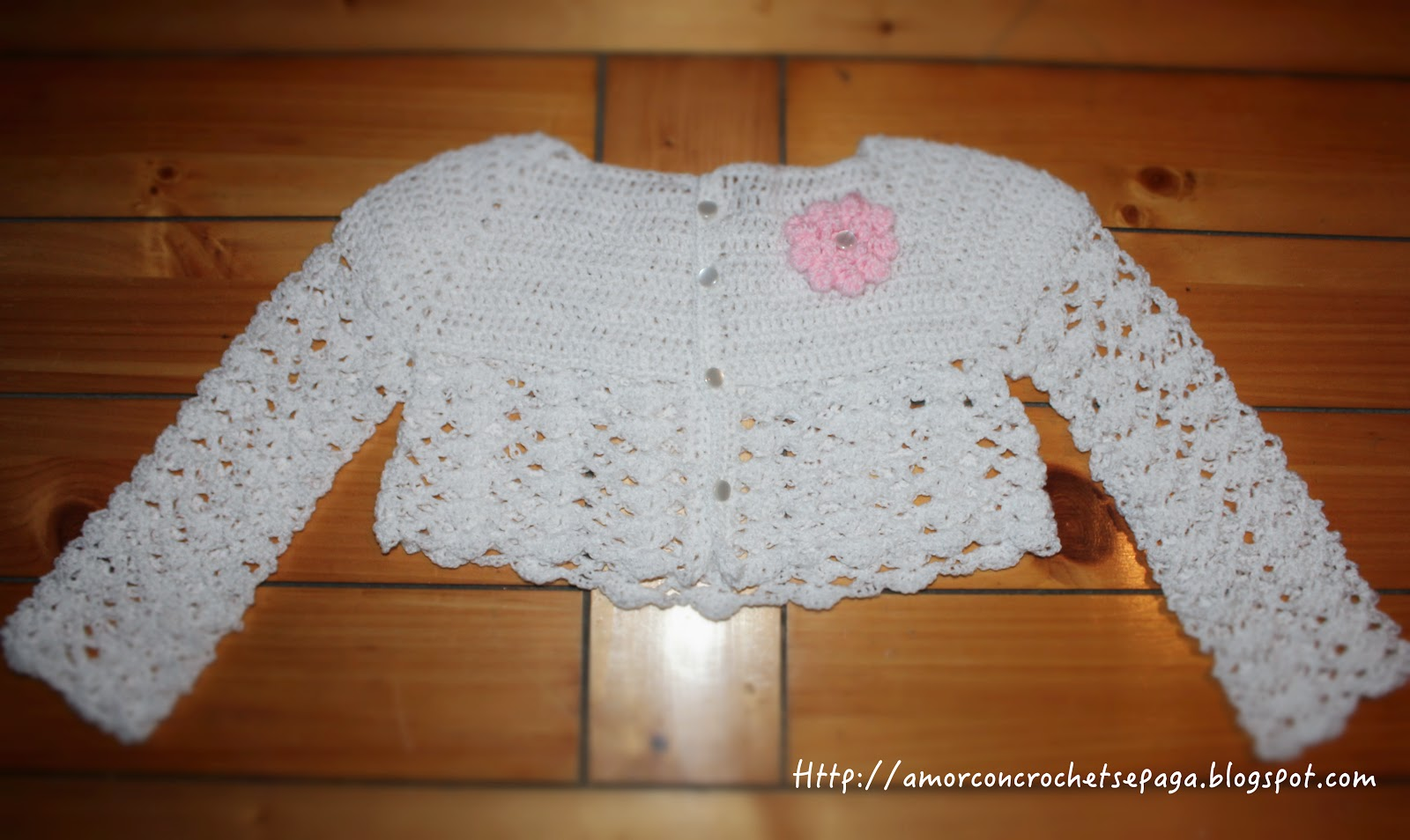 Asombroso Modelo Del Ganchillo Suéter De Bebé Ornamento - Manta de ...