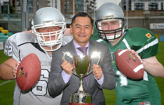 GAA star Jason Sherlock with American Football reps