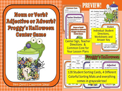 Fern Smith's Froggy's Halloween by Jonathon London Classroom Centers.