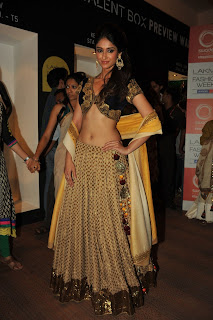 Ileana in Choli at Lakme Fashion Week