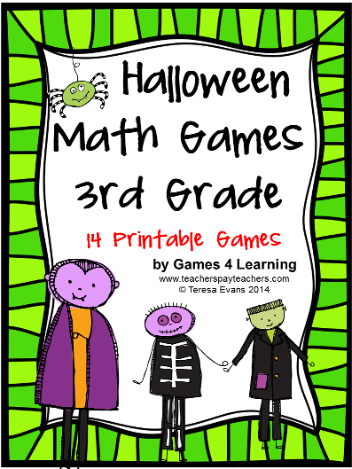 http://www.teacherspayteachers.com/Product/Halloween-Math-Games-Third-Grade-1457636