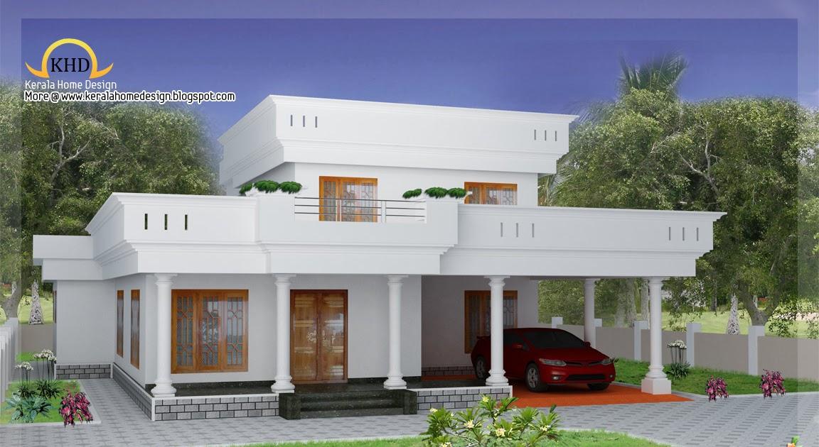 Duplex Home Elevation 2300 Sq Ft Kerala Home Design