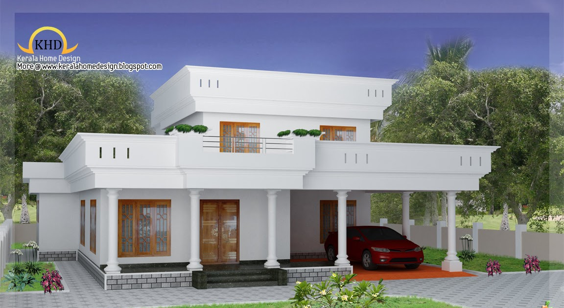Duplex home elevation 2300 sq ft kerala home design for 2300 sq ft house plans
