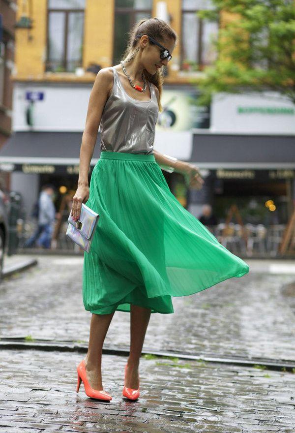 Zapatos de moda color naranja | Zapatos