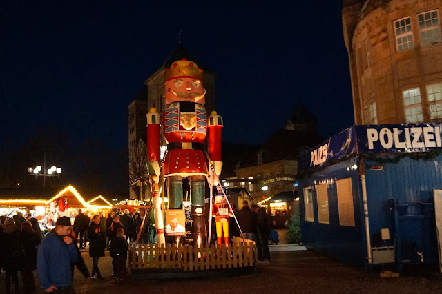 Picture of a giant nutcracker in Osnabrück, Germany.