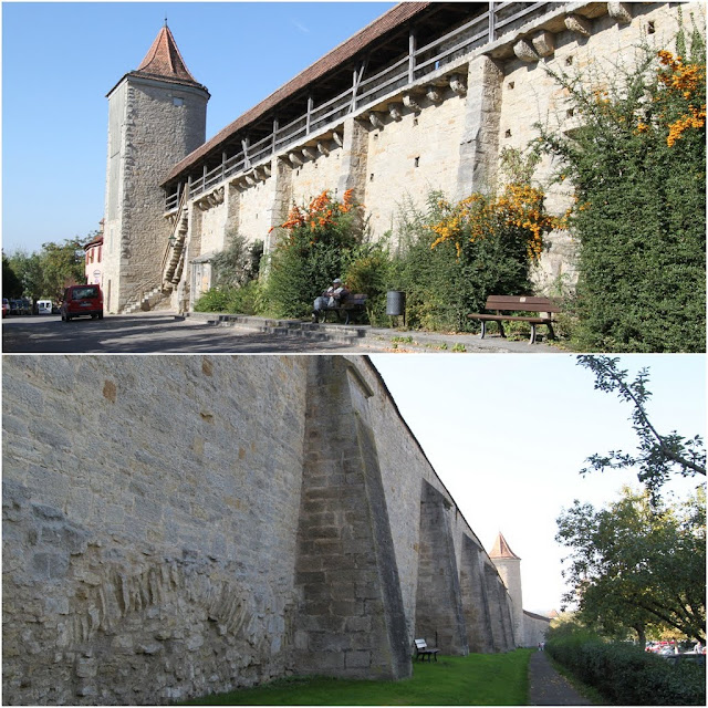 The city wall of Rothenburg in Germany