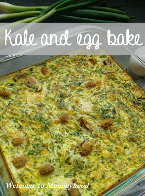 Welcome to Mommyhood's Easy healthy recipes: kale and egg bake