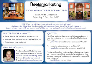 8 Oct in London: Social Media Course for Writers