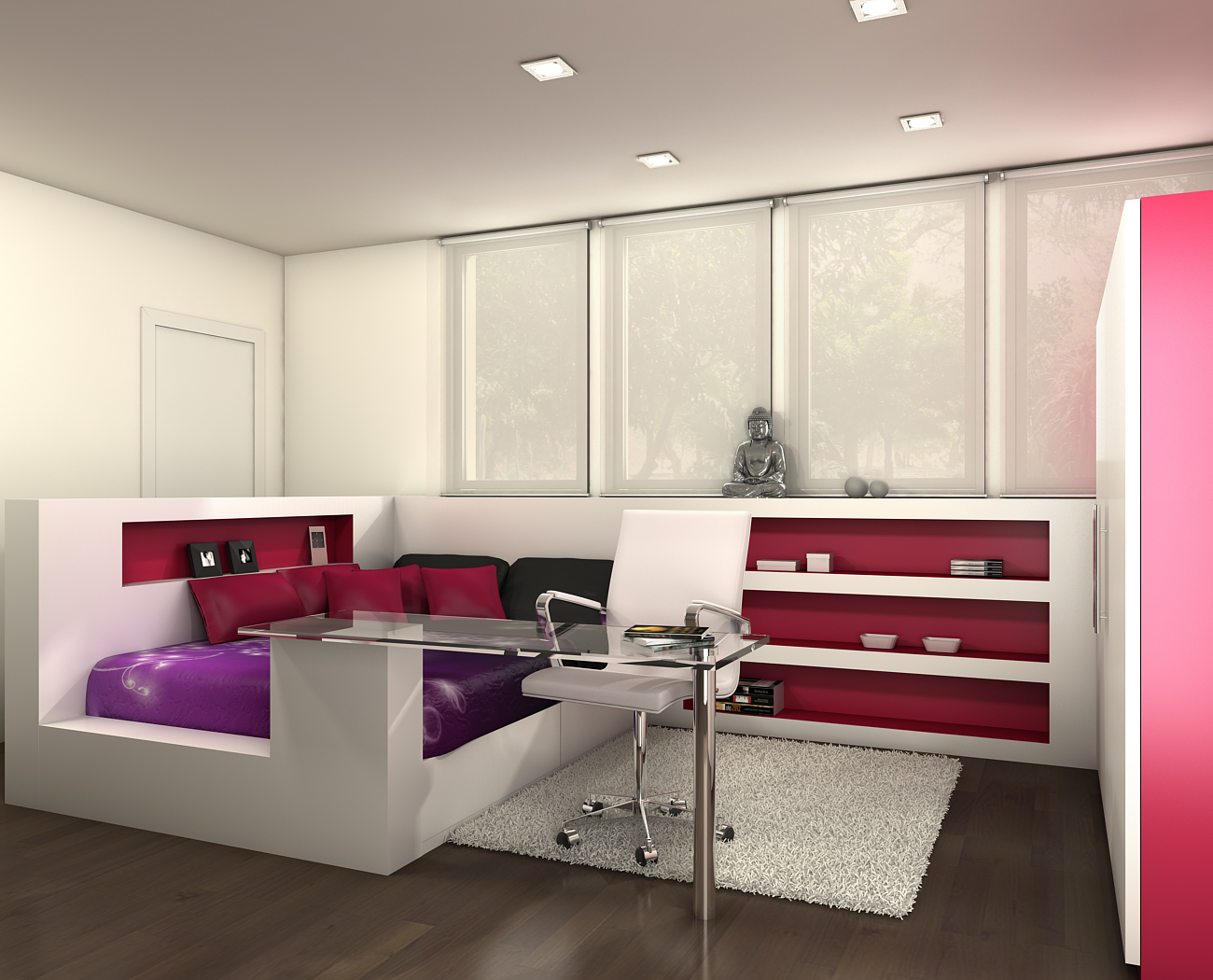 Atrezzo 3d habitaciones juveniles - Habitaciones modulares juveniles ...