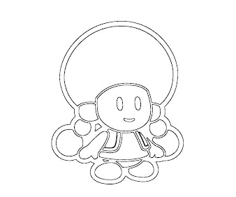 #4 Toadette Coloring Page