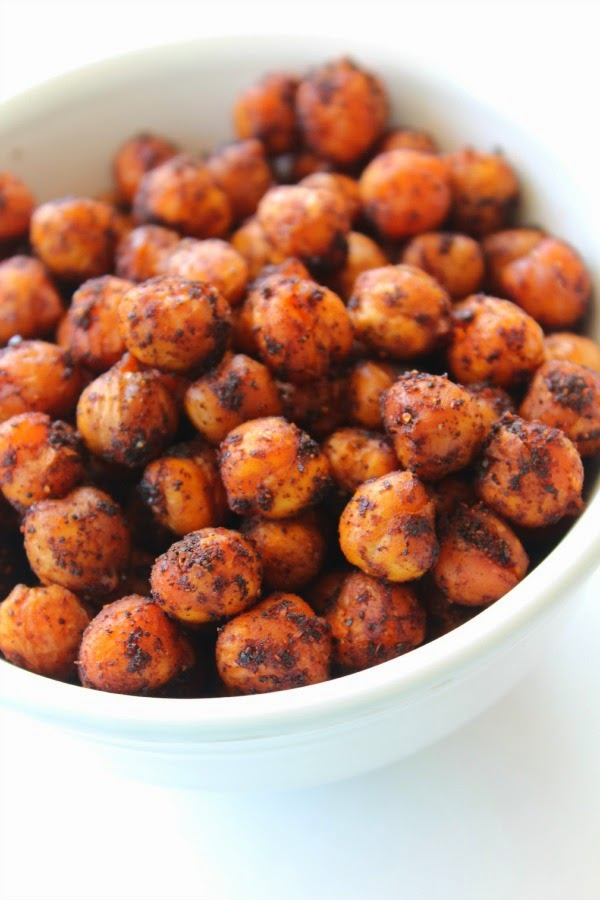 On The Menu: 3 Ingredient Spicy Oven Roasted Chickpeas |Sunny Days ...