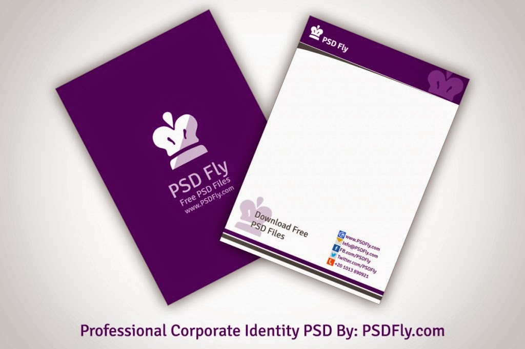 Professional Letterhead Template PSD PSD Fly – Psd Letterhead Template