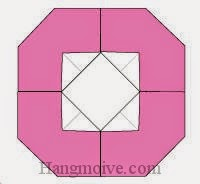 Bước 5: Hoàn thành cách xếp cánh hoa bằng giấy origami.