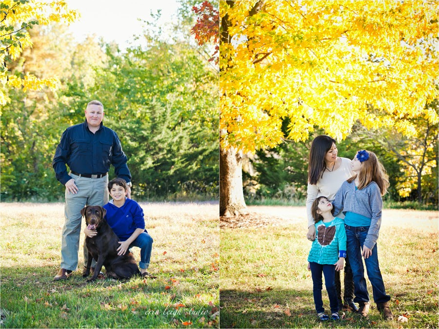 Shawnee Mission Park Family Photos with dog