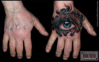 cover-up tattoo: biomechanical eye