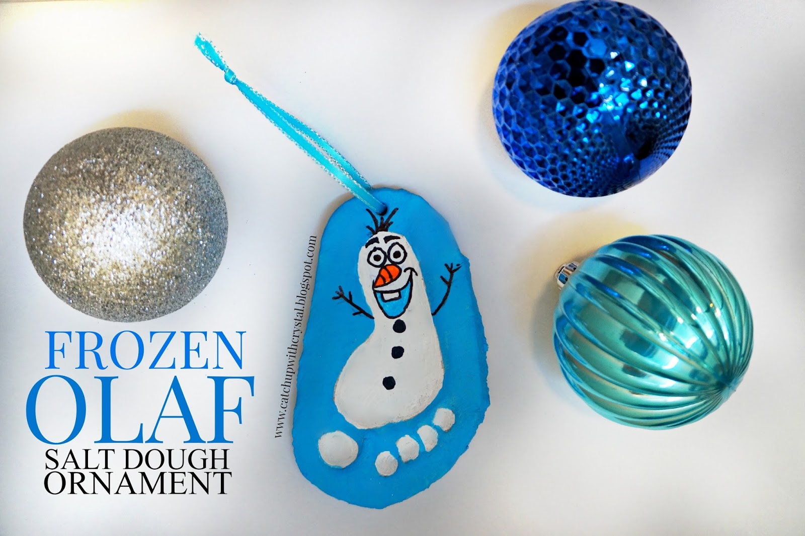 CRYSTAL AND KIDS: Frozen Olaf Salt Dough Ornament