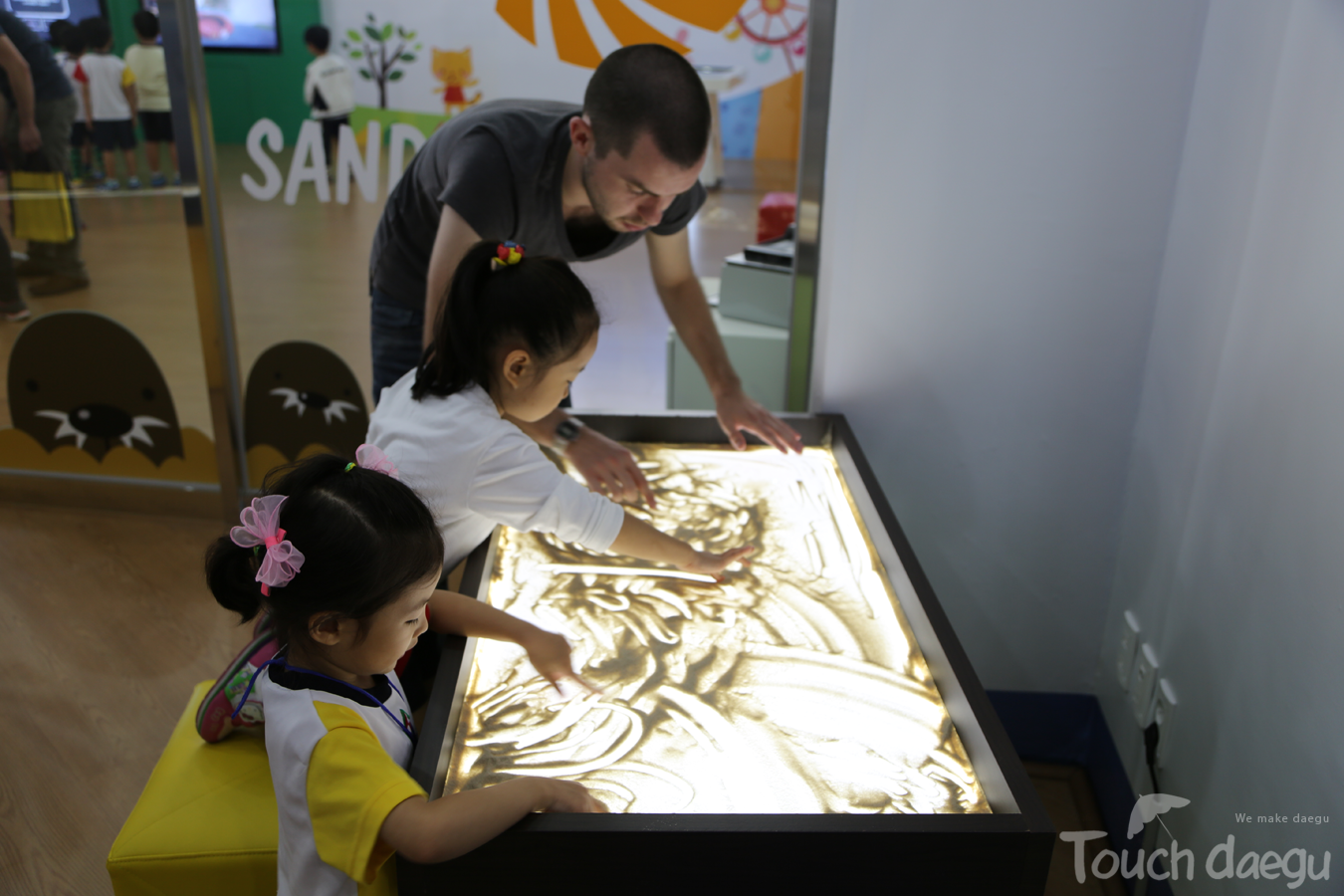 Sand art in Kids Space