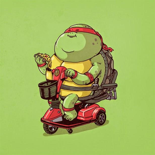 Tortuga Ninja con sobrepeso