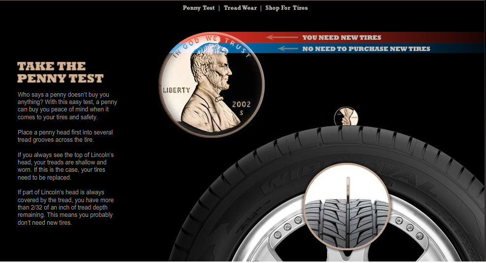 how to tell if you need new tires penny test