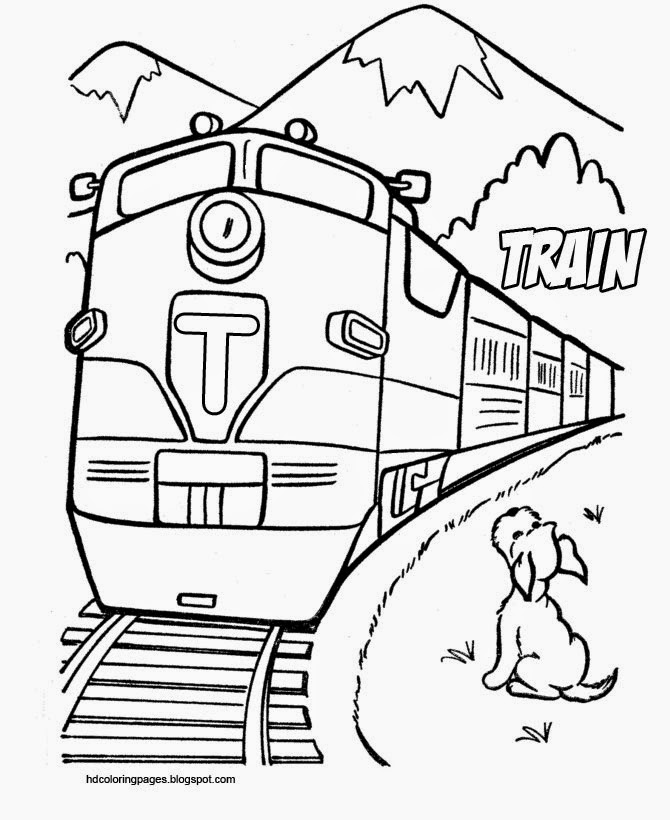 train coloring pages lokomotive and monorail