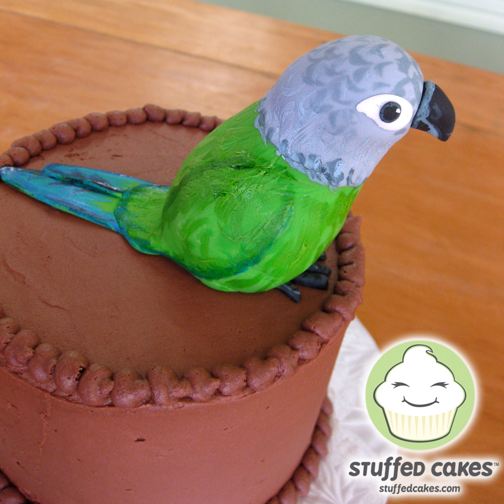 Stuffed Cakes Pickle the Parrot Cake