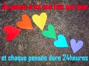 Message d'amour je pense à toi