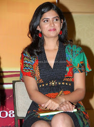 Deeksha Seth Hot Milky Thigh Show Photos