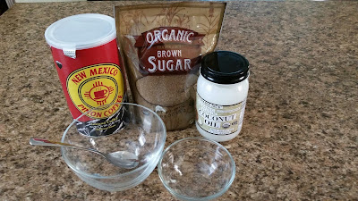 Recipe for coffee and sugar hand scrub