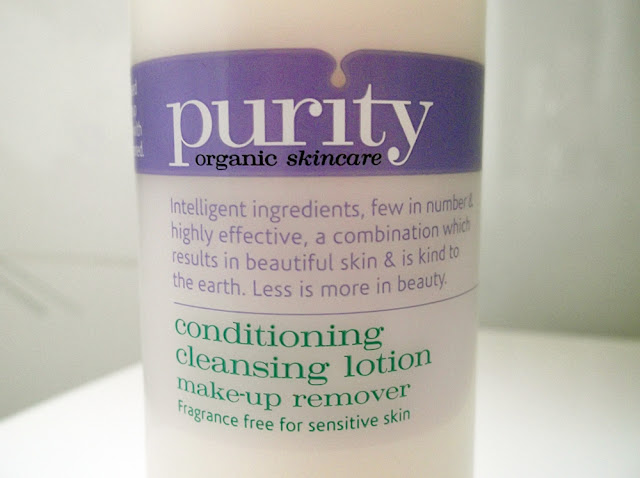 purity organic conditioning cleansing lotion
