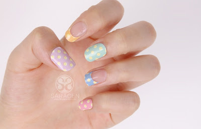 Nail Sticker, Polka Dot Nail Sticker, Easy On Nails!