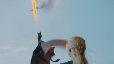Drogon cazando en la tercera temporada - Juego de Tronos en los siete reinos