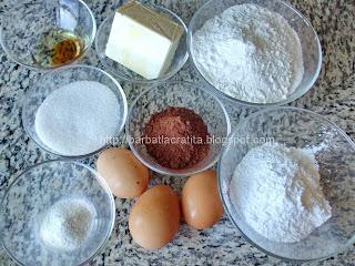 Fursecuri cu cacao si glazura ingrediente reteta